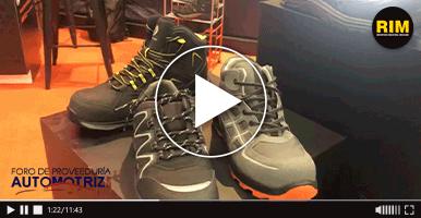 Berrendo exhibe calzado de seguridad industrial en Foro de Proveeduría Automotriz 2019
