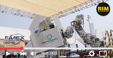 Simuladores de vuelo con Industrial Robotics en Famex 2019