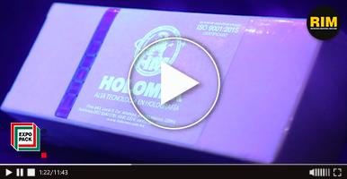 Tecnología holográfica de Holomex en Expo Pack Guadalajara 2019